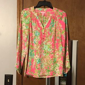 Lilly Pulitzer southern charm Elsa top xs